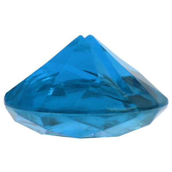 Tischkarten-Halter Diamant, Ø 4cm, blau-türkis