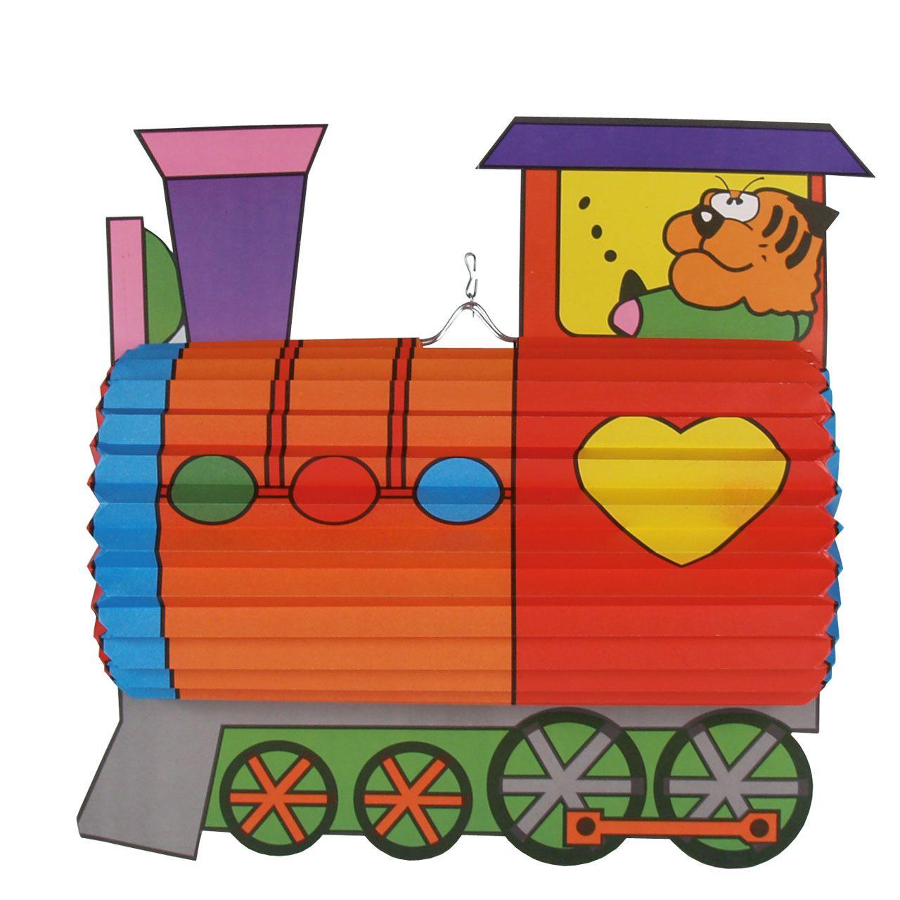 Kinder-Laterne Lokomotive, bunt