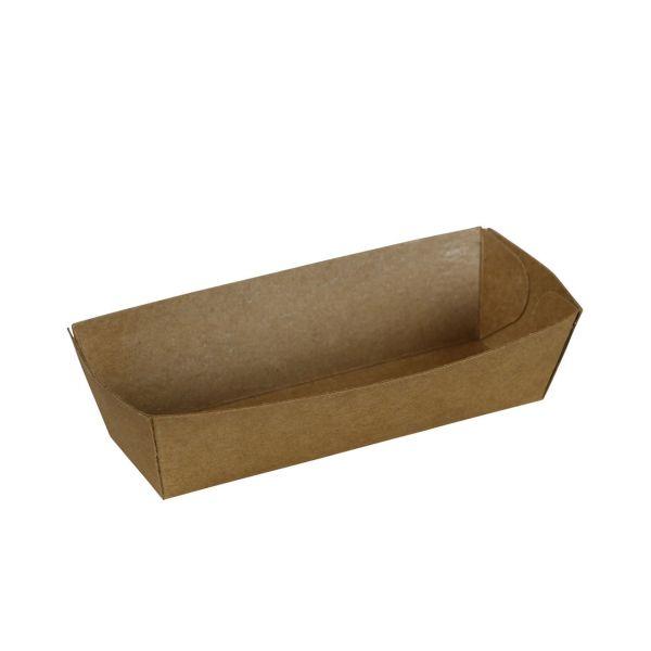 Kraftpapier Schälchen eckig 10 x 3 x 3 cm, natur