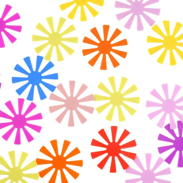 Streudeko Blüte, neon
