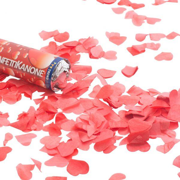 Konfetti-Kanone, Herzen rot