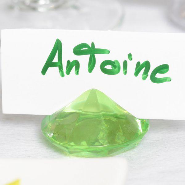 Tischkarten-Halter Diamant, Ø 4cm, grün