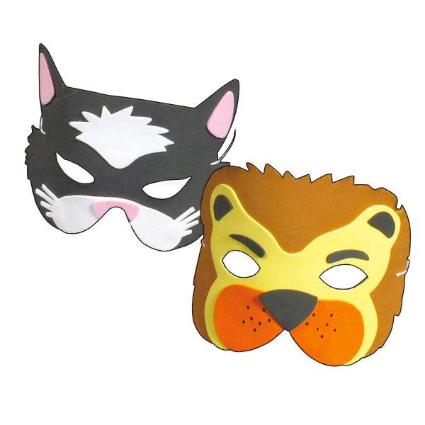 Tiermasken,Katze & Löwe