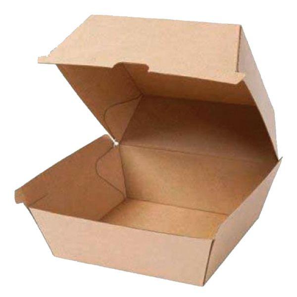 Kraftpapier Hamburger Schachtel, natur