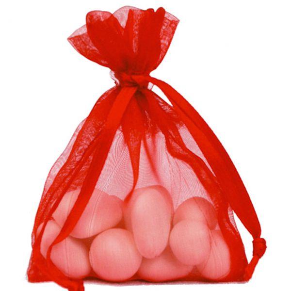 Gastgeschenk Organza-Säckchen, rot