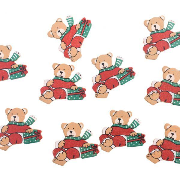 Streudeko Tischkonfetti Weihnachtsbär, Holz