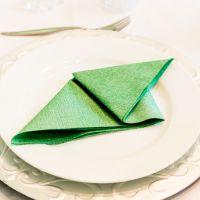 Einweg Serviette Baumwolle, Classic dunkelgrün