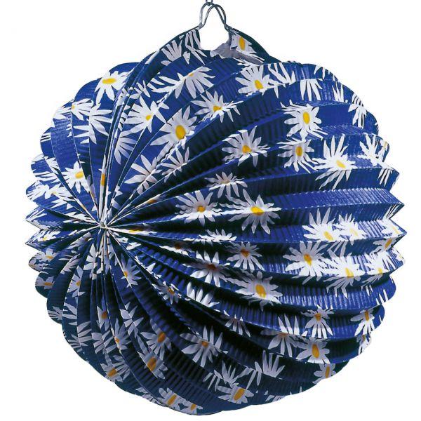 Lampion Margerite, blau-weiß