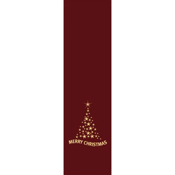 Banner Merry Christmas Baum wetterfest, dunkelrot