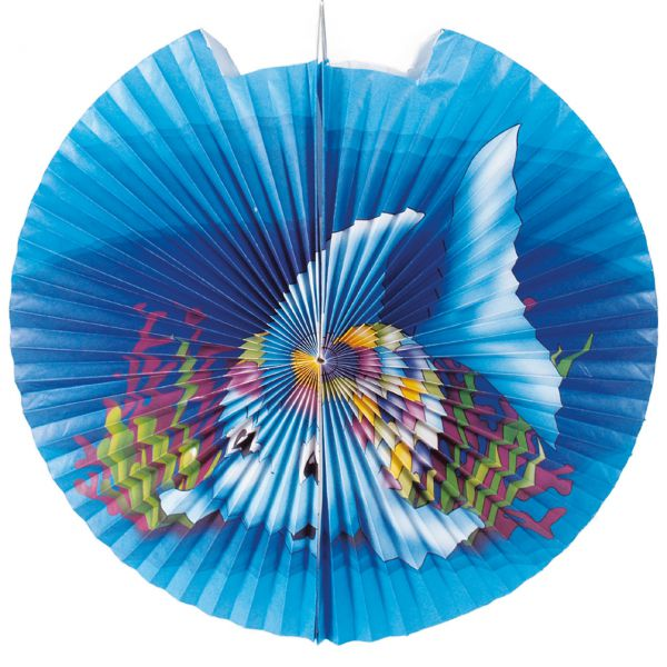 Kinder-Laterne Fisch, blau
