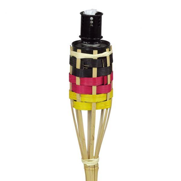 Bambus Fackel Deutschland, schwarz-rot-gold
