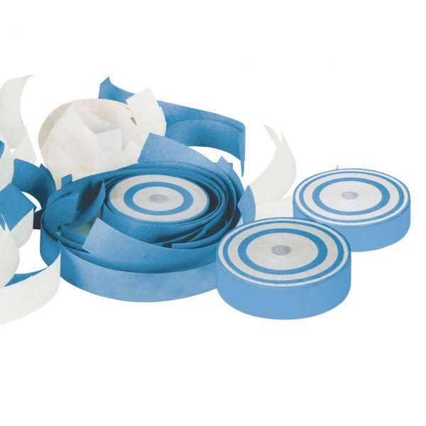 Konfetti Frisbee, weiß-blau