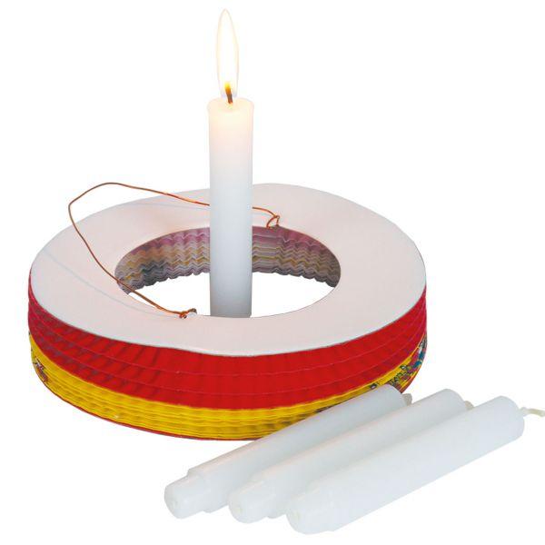 Kerzen für Laternen mit Zapfenfuß, weiß