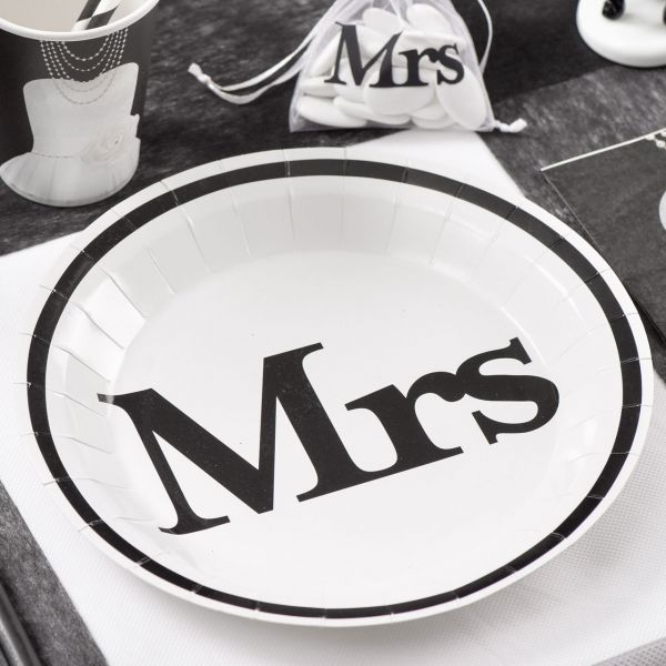 Pappteller MR & MRS