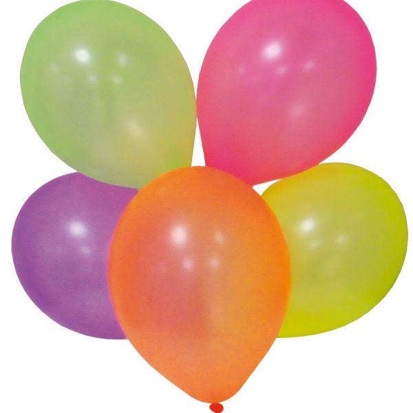 Luftballons, neon, bunt gemischt