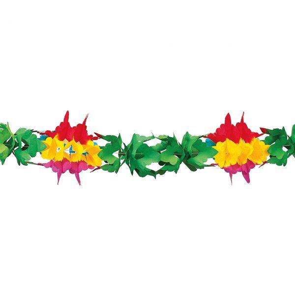 Girlande Blume, grün-rot-gelb