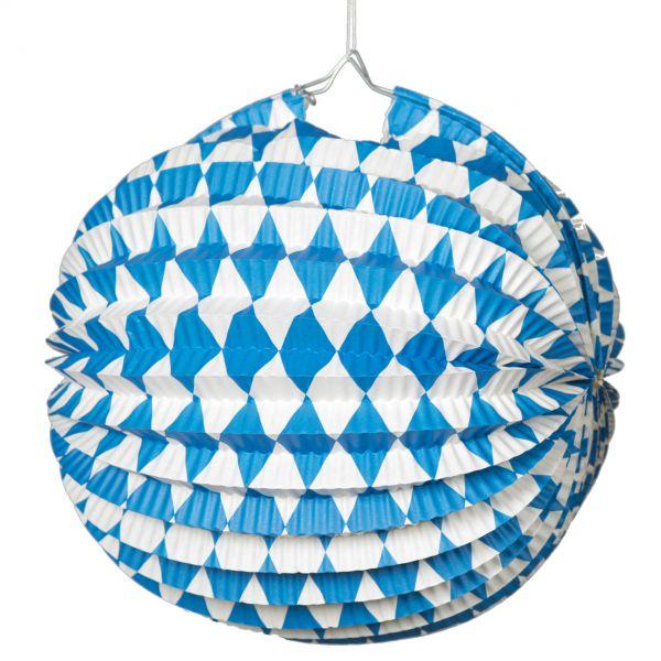 Lampion Bayern Oktoberfest, weiß-blau