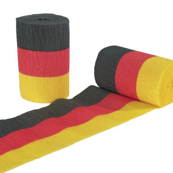 Kreppband Deutschland, schwarz-rot-gold