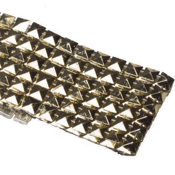 Dekoband Nieten, Pyramide gold-glänzend