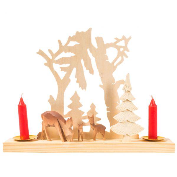 Winterlicher Kerzenhalter, Waldmotiv