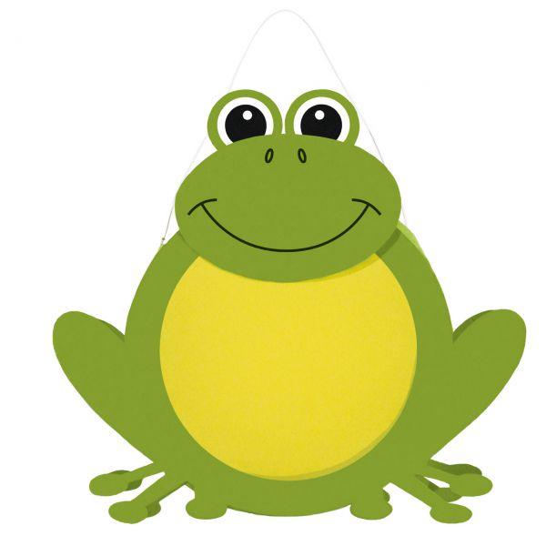 Bastelset Kinderlaterne, Frosch, grün-gelb
