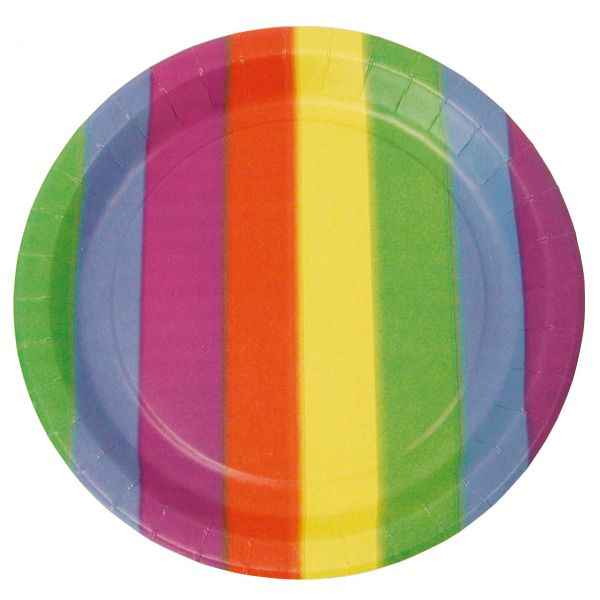 Pappteller Regenbogen, regenbogen