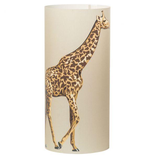 Windlicht Giraffe, sanddunkel