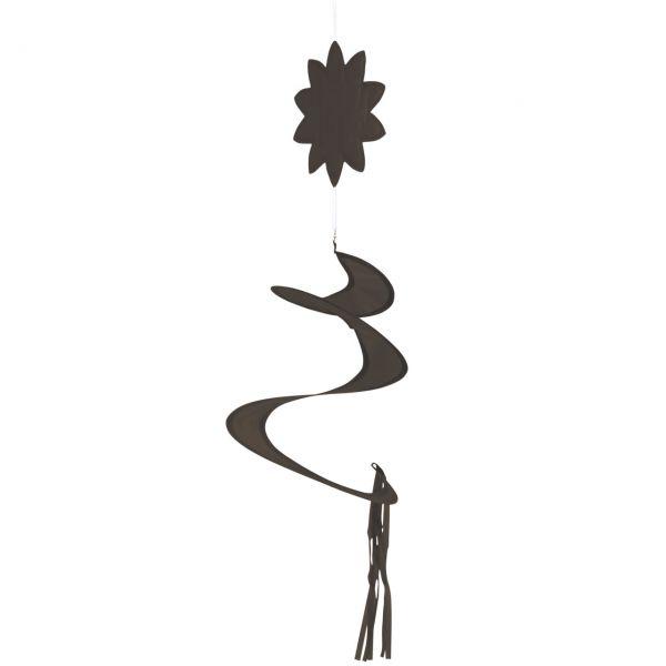 Windspiel Spirale, dunkelbraun
