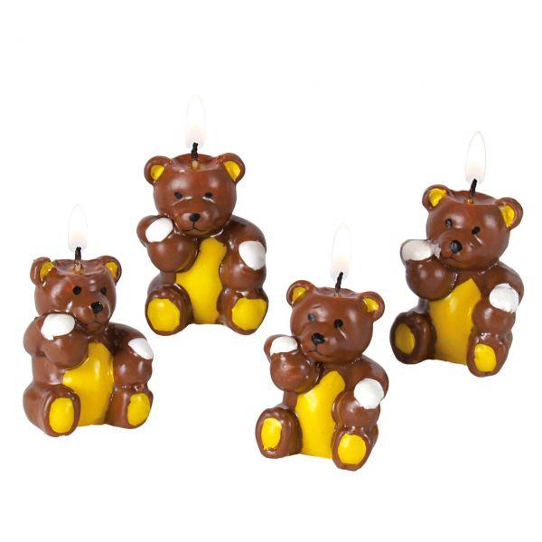 Partykerzen Teddybär, braun