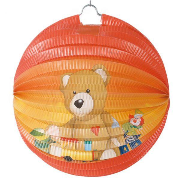 Kinder-Laterne Teddybär, bunt