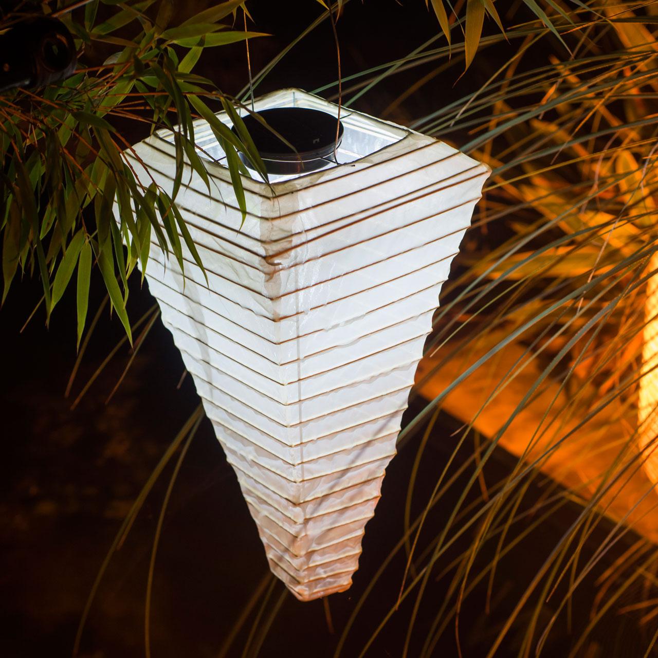 solar led laterne wetterfest pyramide sandhell. Black Bedroom Furniture Sets. Home Design Ideas