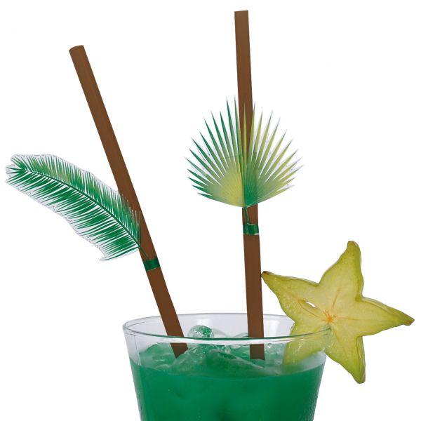 Strohhalme Palmblätter, braun