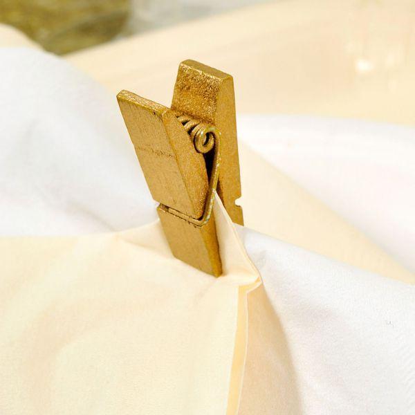 Tischkartenhalter Deko-Klammer, breit, gold
