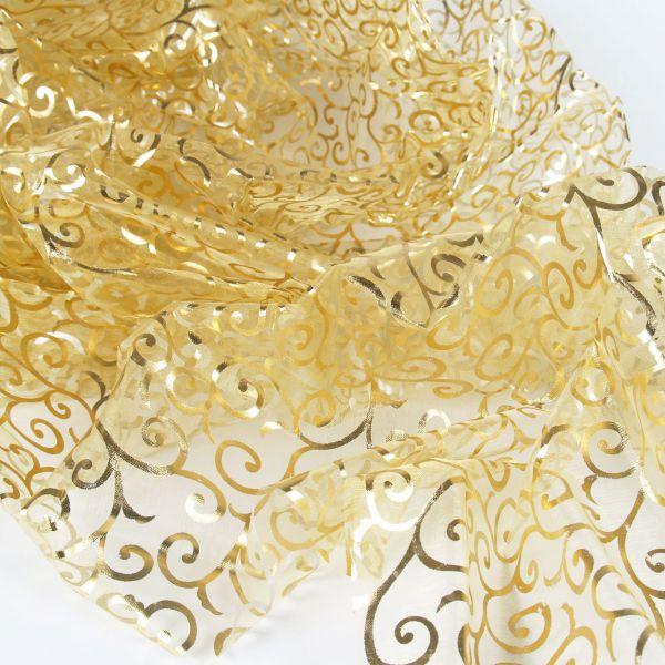 Organza Ornamente, gold-silber-transparent