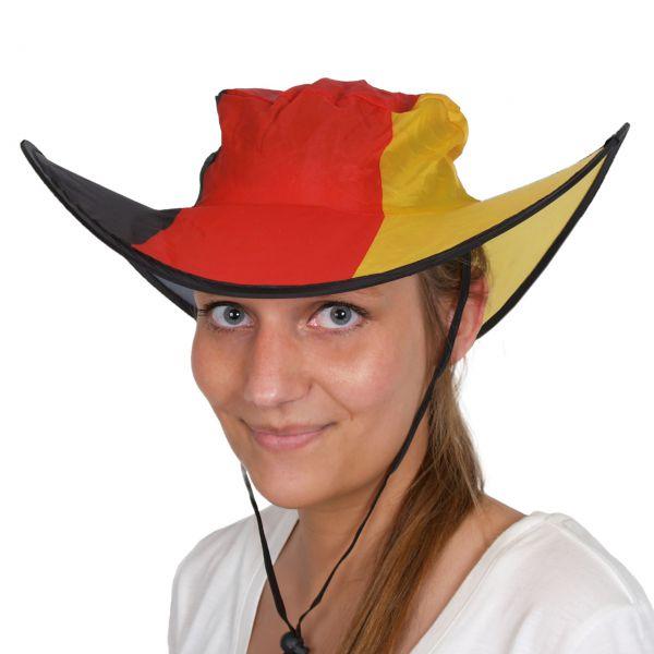 Cowboyhut Deutschland mit Tasche, schwarz-rot-gold