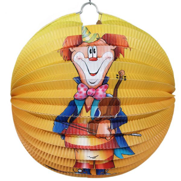 Lampion Clown, bunt