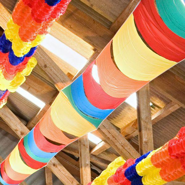 Maxi- Partyhimmel breit, wetterfest, 10 m, bunt