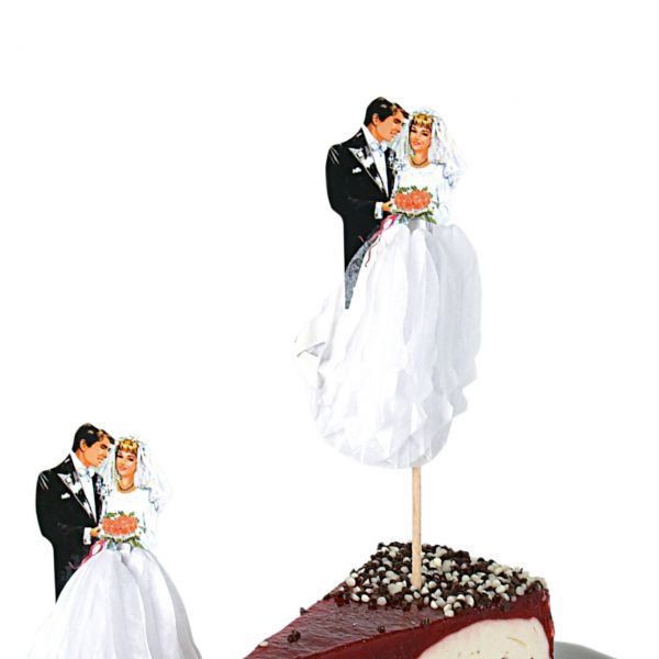 Party-Picker Hochzeitspaar, weiß-schwarz