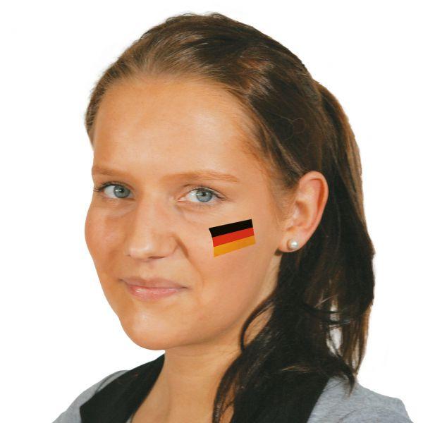 Tattoo Deutschland, schwarz-rot-gold