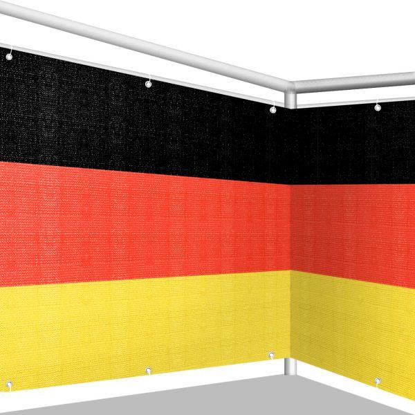Balkonbespannung PE, schwarz-rot-gold Deutschland
