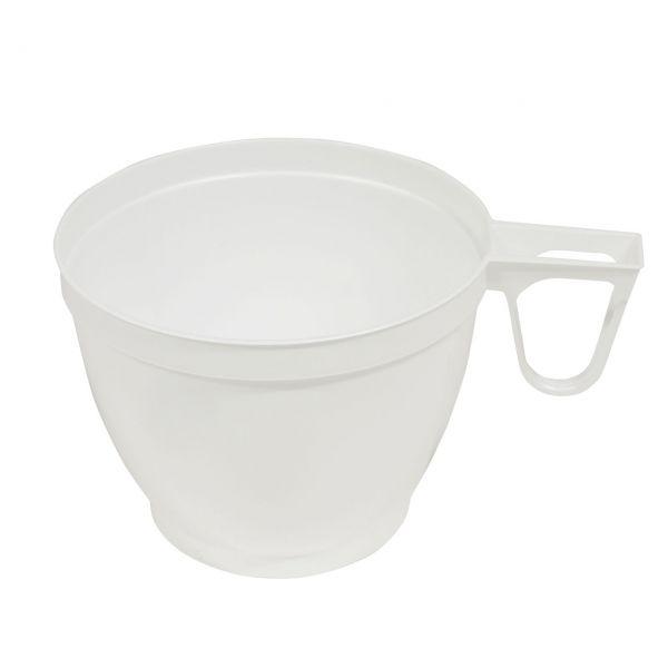 Kunststoff Kaffee Tasse, weiß