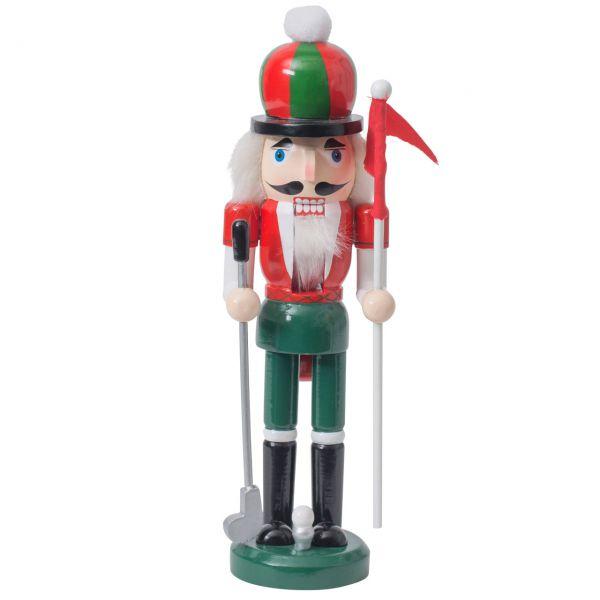 Nussknacker Golfspieler 25cm, rot-grün
