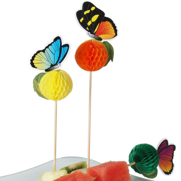 Party-Picker Schmetterling 3D, bunt