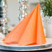 Einweg Serviette Baumwolle, Classic orange