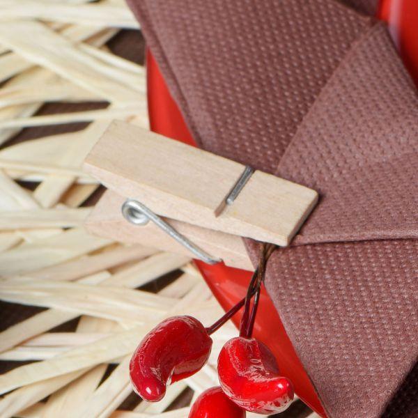 Tischkartenhalter Deko-Klammer, breit, natur