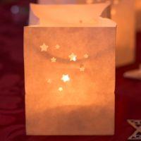 Lichtertüten Sternchen Länge: 7,5, Breite: 7,5, Höhe: 9,5cm