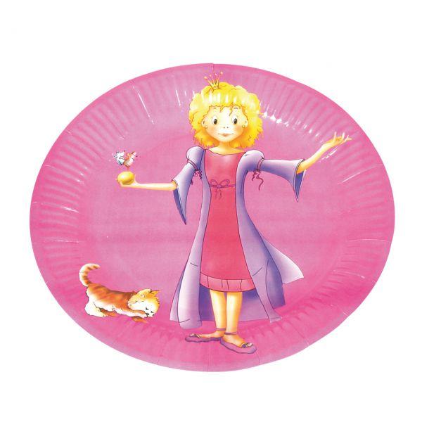 Pappteller Prinzessin, pink
