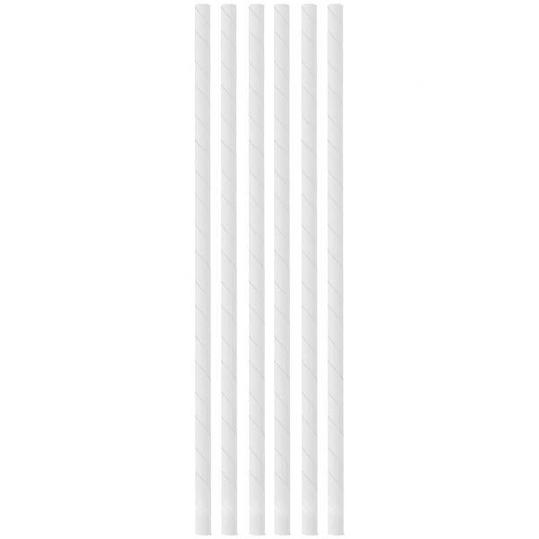 Papier Trinkhalme 0,6 x 20cm, weiß