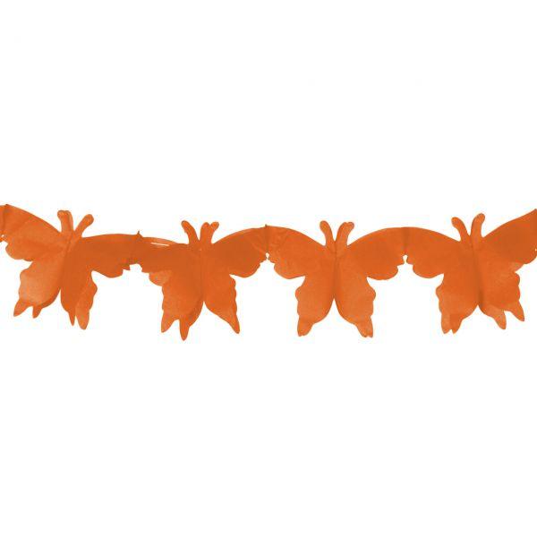 Girlande Schmetterling, orange