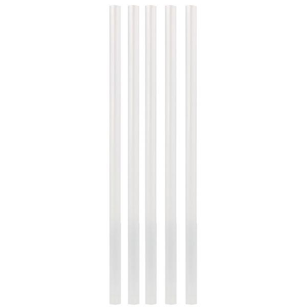 PLA Trinkhalm Jumbo 0,8 x 25 cm, weiß